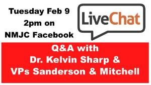 Live Chat with Dr. Sharp and VPs Sanderson and Mitchell
