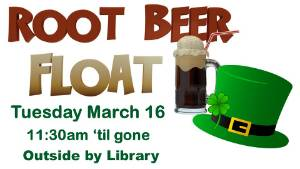 Root Beer Floats for St. Patrick's Day