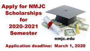 Deadline to Apply for NMJC Scholarships