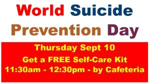 Self-Care Packets for World Suicide Prevention Day