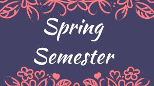 Registration for Spring Semester Begins