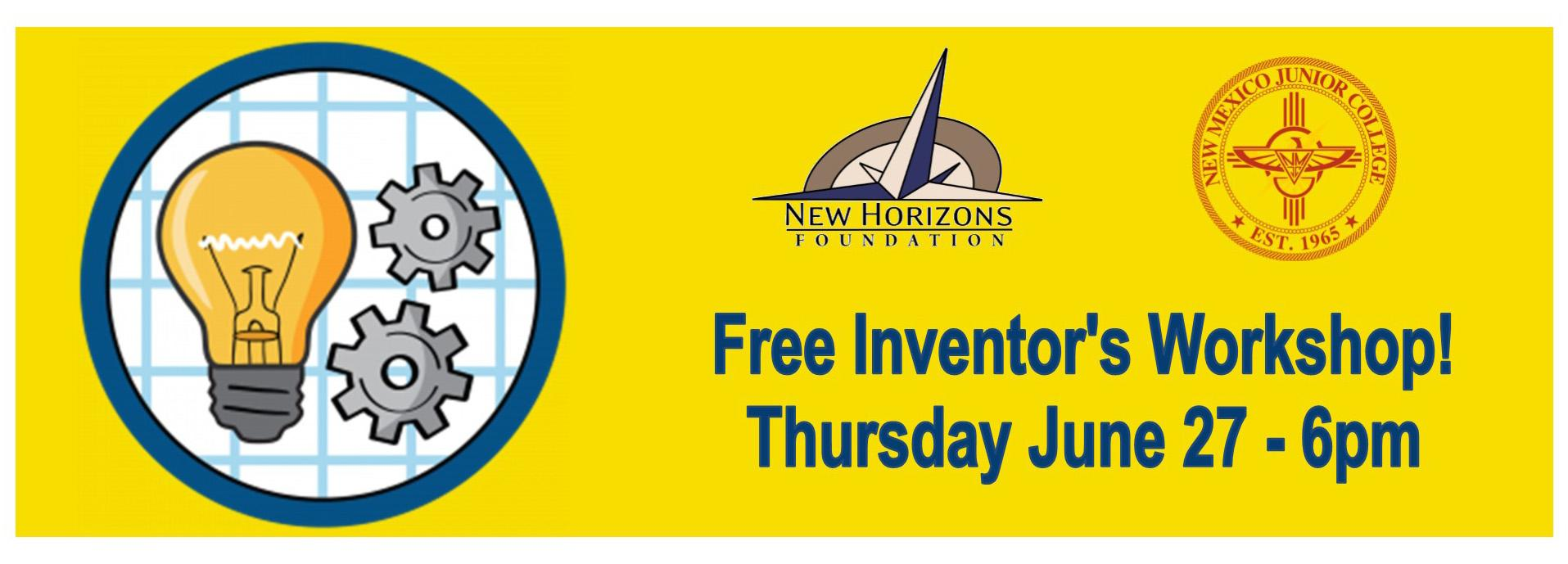 Inventor's Workshop Thursday Jan 27