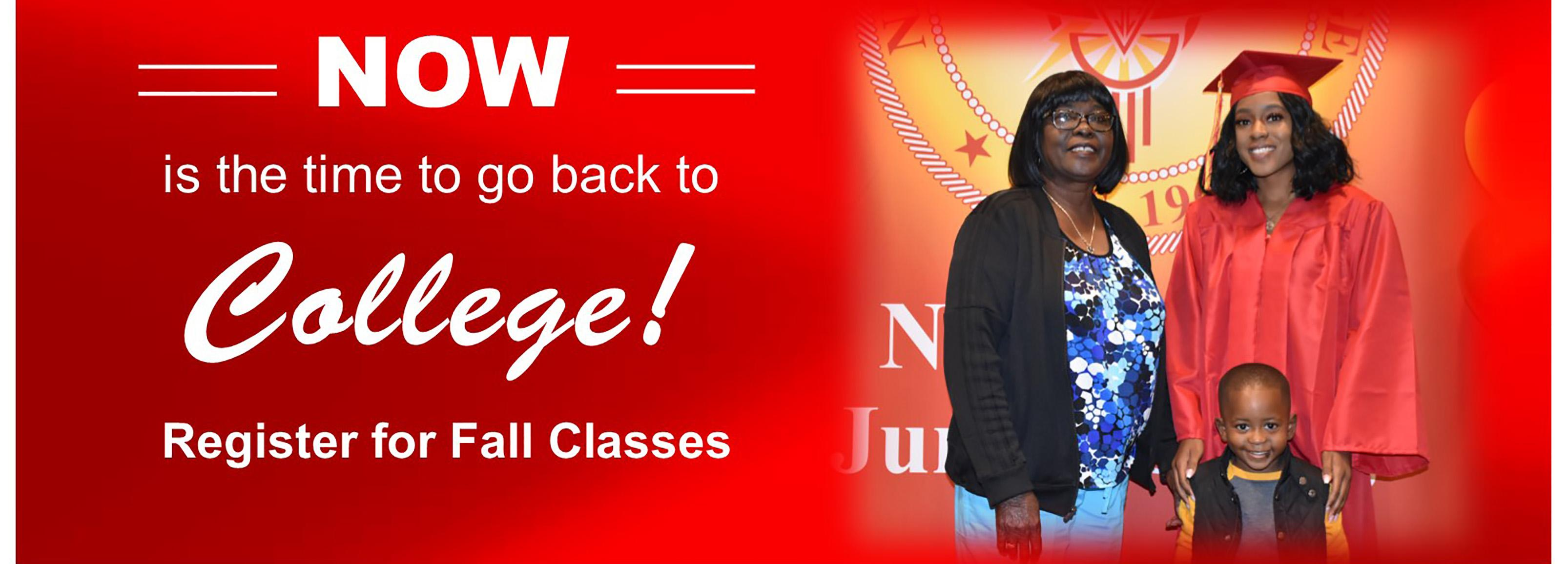 Fall Registration Going on Now