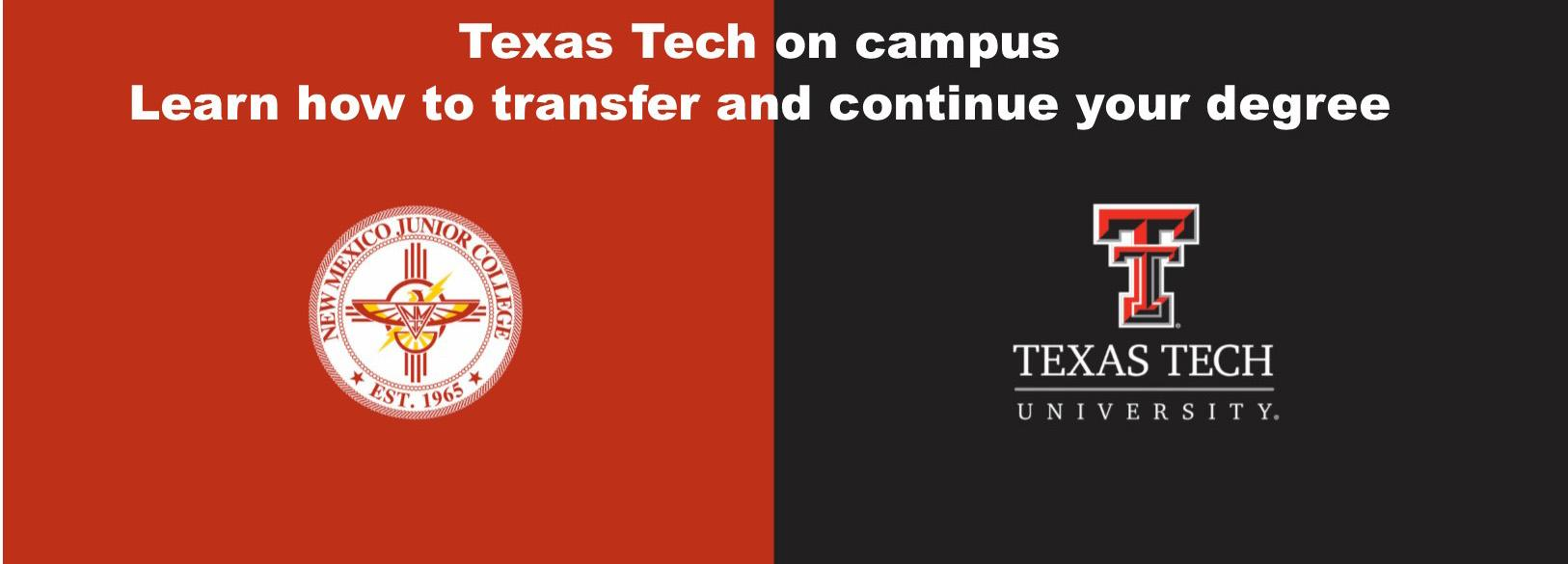Texas Tech on Campus Wednesday Jan 16 -  10am-1pm