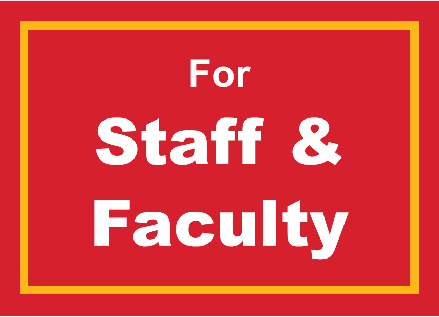 For Staff and Faculty